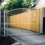 6' White Oval Arch Gate (Small)